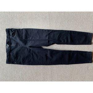 Black Topshop Jamie Super Skinny Ankle Jeans